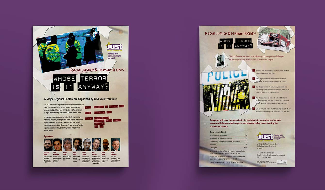 Whose Terror is it anyway Leaflet- JUST West Yorkshire