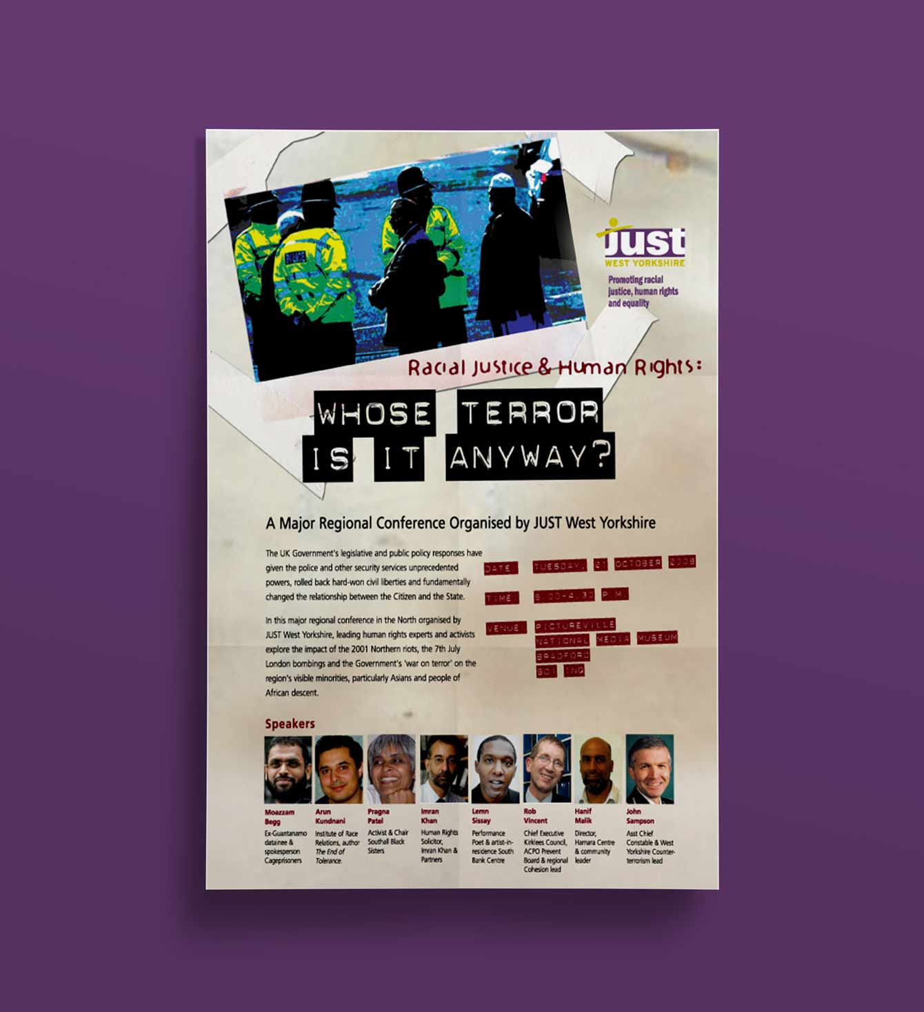 Whose Terror is it anyway Poster - JUST West Yorkshire